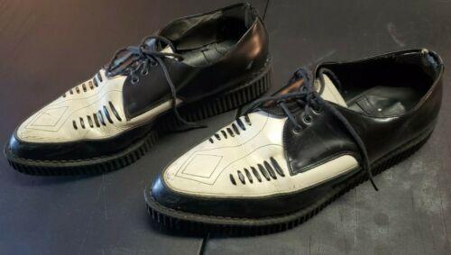 Demonia Creeper Black Leather Platform Oxford Shoe