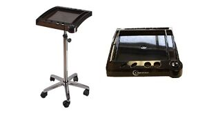 Salon-Spa-Color-Chemical-Tray-Trolley-Roll-About-Cart-With-Timer