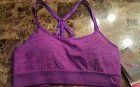 Climawear Seamless Sports Bra Padded Hot Pink/dark Purple Women's Small