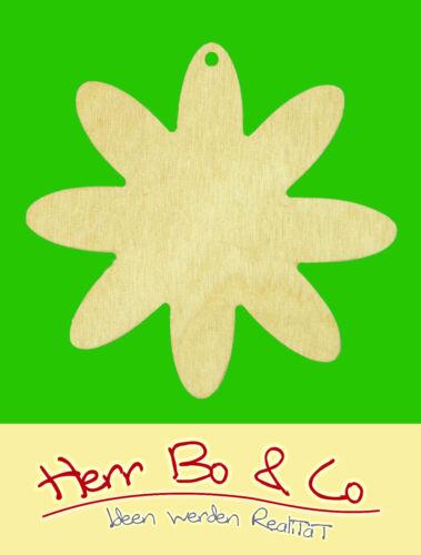 2x Margaritenblüte Holz Anhänger Basteln Malen Deko