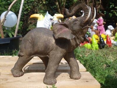 15cm Figur Deko Garten Afrika Skulptur wetterfest Baby Stehender Elefant L