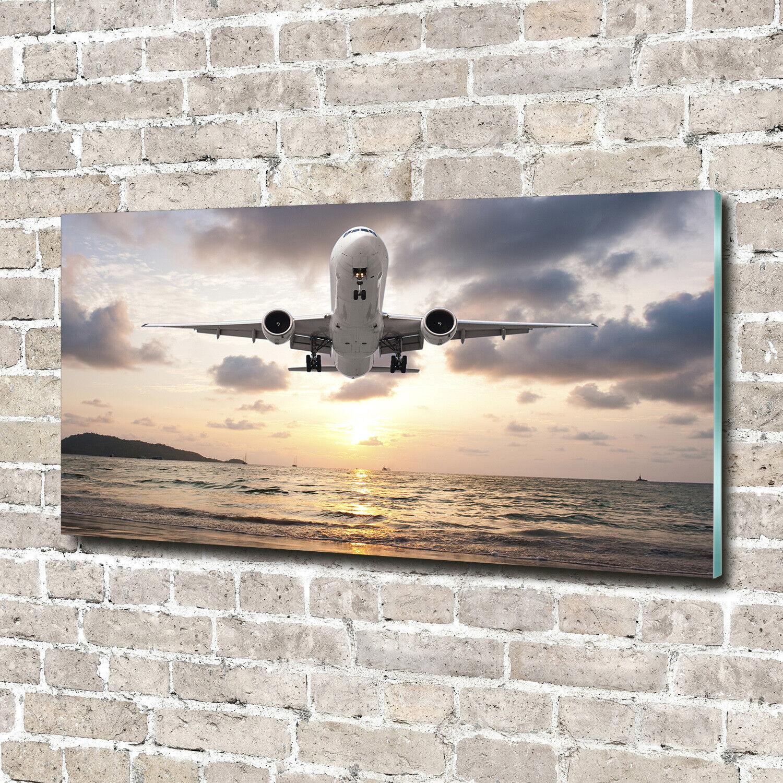 Wandbild aus Plexiglas® Druck auf Acryl 140x70 Fahrzeuge Flugzeug Meer