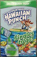 6 Boxes (48 Packets) Hawaiian Punch Singles To Go Green Berry Rush Sugar Free