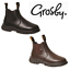 GROSBY-RANCH-BOOTS-Black-Brown-Toddler-Infant-Boys-Kids-Leather-Slip-On-Shoes thumbnail 1