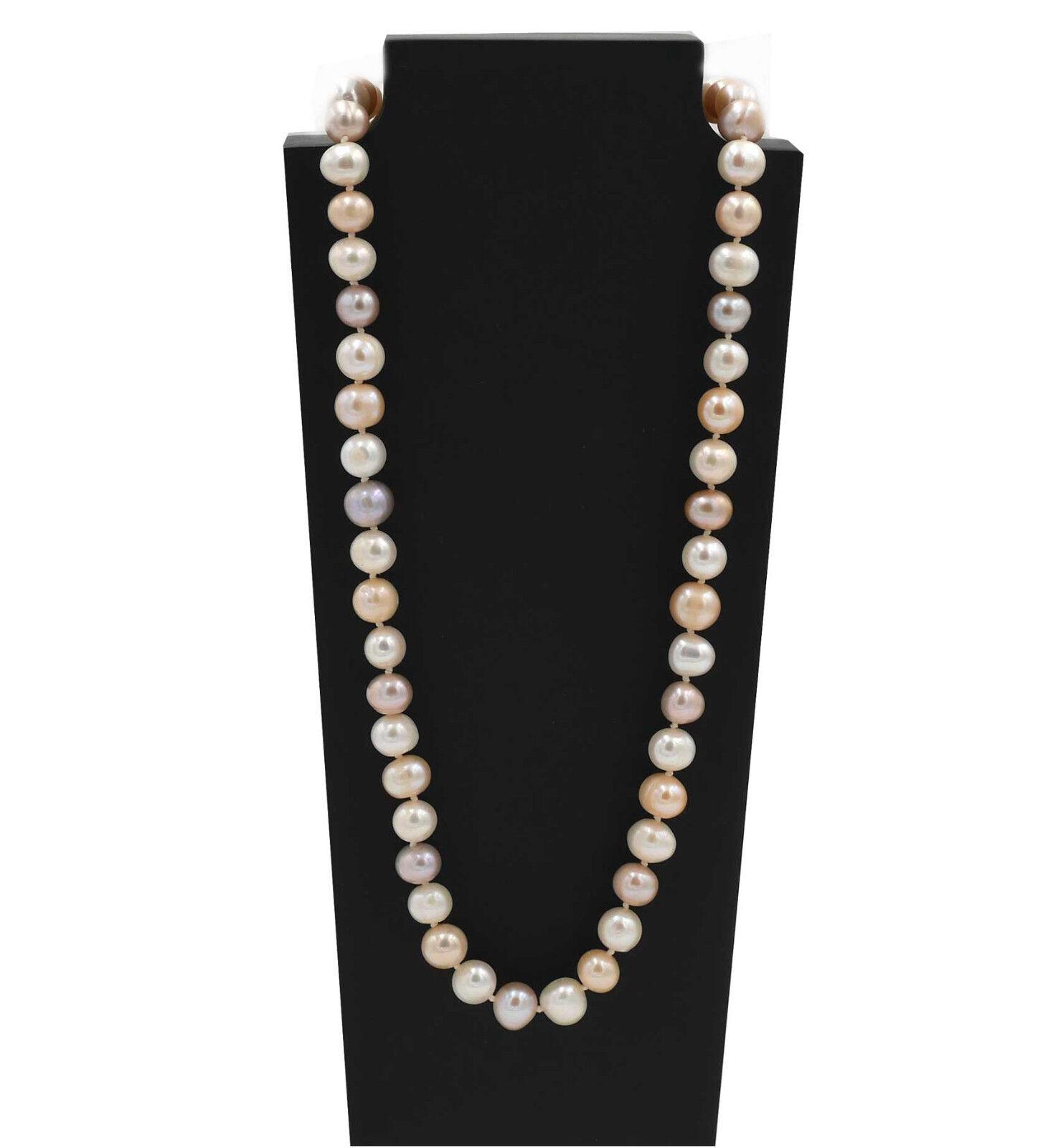 Perle Allevamento Catena Colore 9-10 mm PERLE ANNODATE ANNODATE ANNODATE Sterling argentoo 925 gioielli da sposa b71474