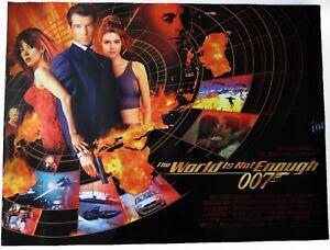 Original-James-Bond-007-The-World-Is-Not-Enough-UK-Quad-D-S-Kino-Filmposter