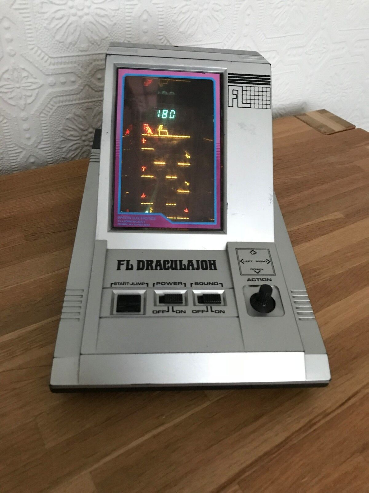 Extremely Rare Bandai FL Draculajoh Vintage 1982 LSI Tabletop Electronic Game