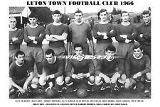LUTON TOWN F.C. TEAM PRINT 1966 - (FRENCH / RIDDICK / RIOCH / PLEAT)
