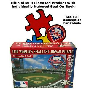 World's Smallest Jigsaw Puzzle MLB Boston Phillies Baseball by TDC 234 Pieces