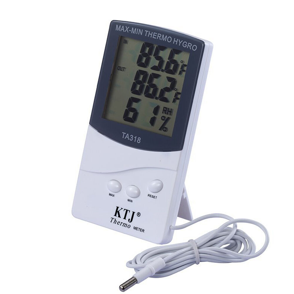 Indoor Home Digital LCD Thermometer Hygrometer Meter Temperature Humidity 、A_DS