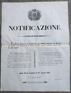 1847-BANDO-DA-FIRENZE-SU-CENSURA-SU-STAMPE-E-SCRITTI-PER-EVITARE-DISORDINI