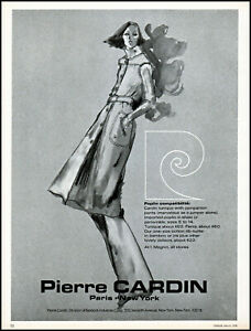 1976-Pierre-Cardin-women-039-s-clothing-fashions-model-vintage-art-print-Ad-adl31