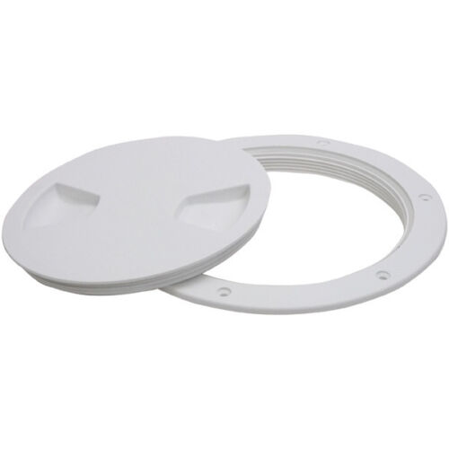 """Inspection Port x 2 White 4/"""" or 100mm ID Tank View Ports O ring sealed White"""