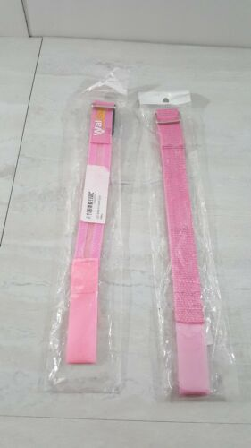 2 Reflective Safety Armbands 11.5x1.25 pink with 3 setting blinking lights