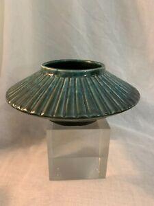 """Brush McCoy Pottery MODERNE Kolorkraft Line Green 709 / Brush / USA 8.5"""" D"""