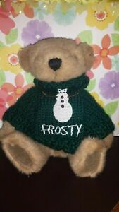 Holiday-Teddy-Bear-9-034-Brown-17-Sweater-Set-Jointed-Plush-Interchangeable-Stuffed