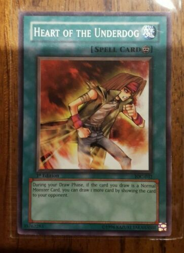 YU-GI-OH HEART OF THE UNDERDOG 1ST EDITION IOC-032