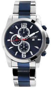 Akzent-Herrenuhr-Blau-Analog-Datum-Chrono-Look-Metall-Armbanduhr-D-2800060001