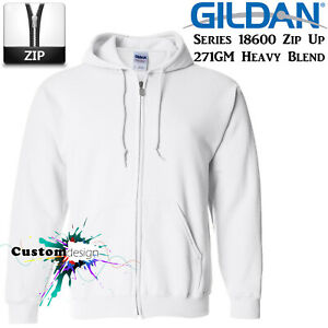 Gildan-White-Zip-Up-Hoodie-Heavy-Blend-Basic-Hooded-Sweatshirt-Sweater-Men