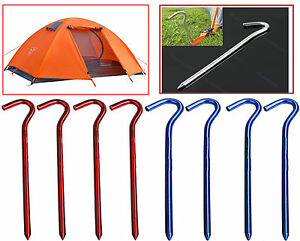 Image is loading Aluminium-Tent-Pegs-C&ing-Awning-Canopy-Tent-Nail-  sc 1 st  eBay & Aluminium Tent Pegs Camping Awning Canopy Tent Nail Hard Outdoor ...