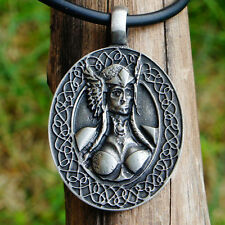 Nordic Viking Goddess Female Warrior Viking valkyrja valkyrie Pewter Pendant