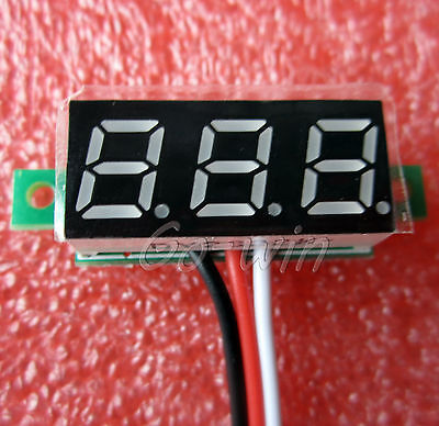 """1PCS 0.28"""" LED DC  0-100V Digital Voltmeter Panel Meter RED COLOR"""