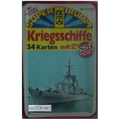 Kriegsschiffe Super Trumpf Quartett selten Kartenspiel + 2X SST Karten Komplett