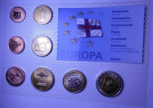 FAROER Set coins 2004 Euro Probe//Prova KM SET 2004 BU