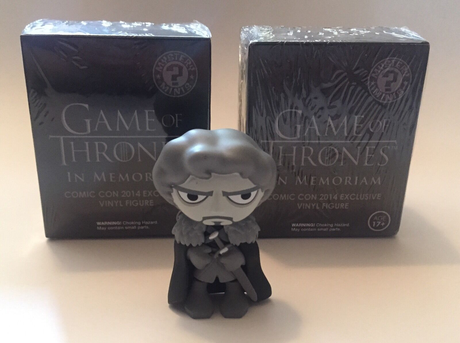 Game of Thrones In Memoriam Vinyl 2014 SDCC Exclusive: 2x NEW SEALED + ROB STARK