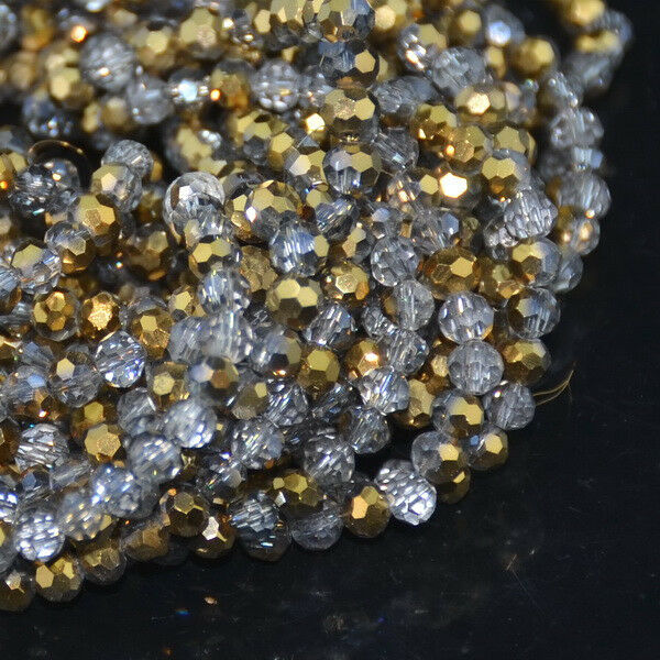 Czech Crystal 4MM Faceted Loose Round Beads DIY Bracelet Necklace Jewelry Making