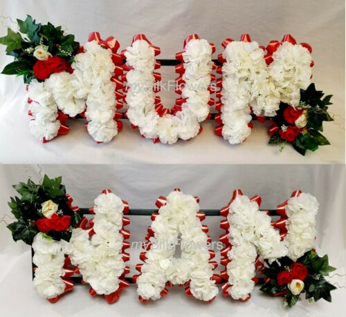 MUM NAN Artificial Silk Funeral Flowers Package Name Wreath NANNA NANNY MAM
