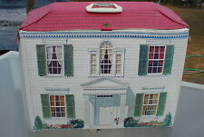 Vintage Ideal Petite Princess Doll House & Furniture Fold Up Carrying Case HD