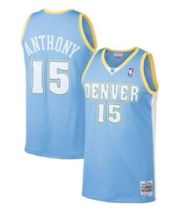 promo code 62cee 14443 Details about Carmelo Anthony #15 Denver Nuggets Mitchell & Ness Mesh NBA  Throwback Jersey
