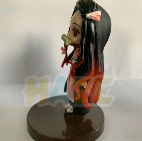 Demon slayer kimetsu no yaiba kamado nezuko /& tanjirou q toy figures new