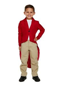 Boys Red Jacket Fox Child Costume Book Day Week Animal Halloween Kid Party Dress