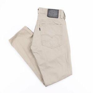 Levi's 511 Slim Coupe Droite Homme Beige Noir tab jeans W31 L32