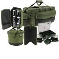 Carp Fishing Luggage Set Carryall Rig Wallet Tackle Box Glug Pots Green Ngt