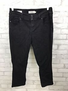 Torrid Cropped Jegging Black Rinse Skinny Jegging Denim Crop 3 Button Size 14