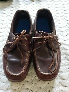 Captain Boat Shoes Brown Leather Deck