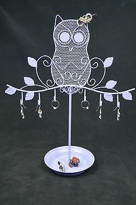 Owl Jewelry Stand Display Earrings Necklace Ring Ornament Holder