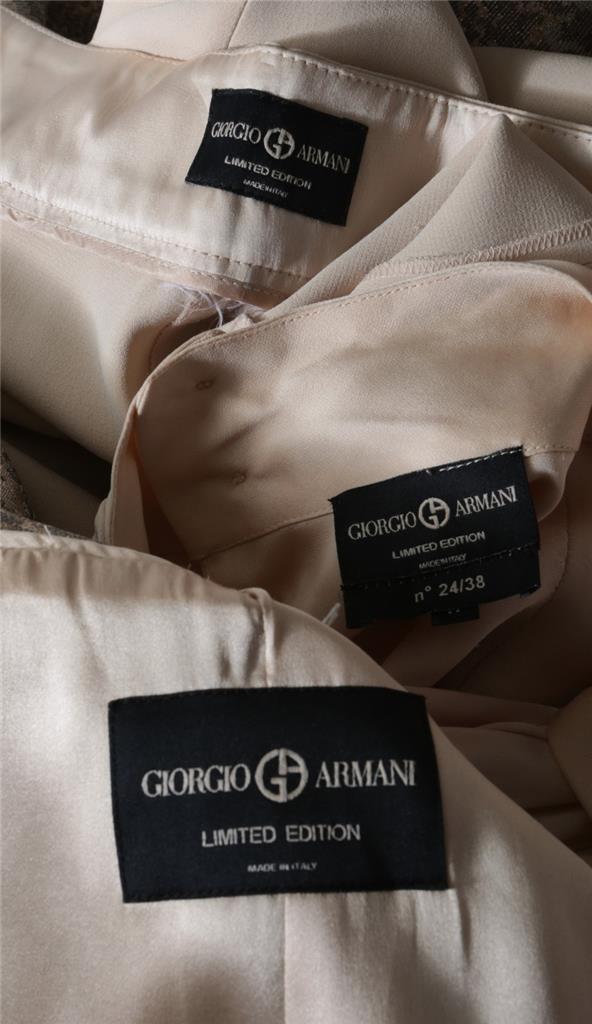 Giorgio Armani Ltd ed ed ed Colore Carne Metallizzato Fiocco Camicetta Giacca c082da