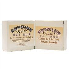 Ogallala Bay Rum Sweet Orange 2 pack -- Shaving Soap and Bath Soap & Shampoo Bar