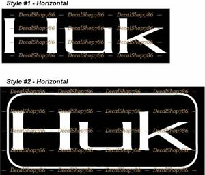 HUK Performance Fishing Gear Outdoor Sports Decal Sticker 5 inch White