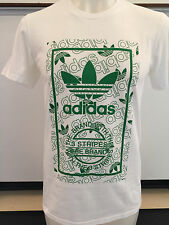 ADIDAS STAN SMITH REPEAT WHITE GRAPHIC TEE T SHIRT MENS SIZE SMALL NWT