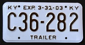 KENTUCKY-034-TRAILER-C36-282-034-2003-KY-Vintage-Classic-Specialty-License-Plate