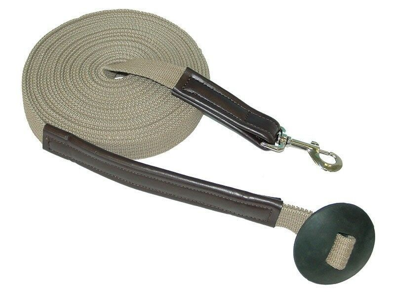 Lami-Cell Heavy Duty Lunge Line Natural Cotton 27' with Rubber Stopper