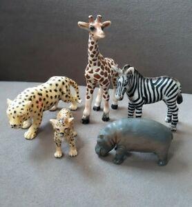 Schleich-Wild-Animals-Collectible-Animal-Figurines-Lot-0f-5