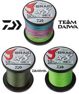 0-0798-m-50m-DAIWA-J-BRAID-X8-Geflochtene-Schnur-0-06mm-0-35mm-3-Farben