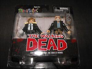 The Walking Dead Series 6 Minimates Contable Rick Grimes and Douglas Monroe MINT