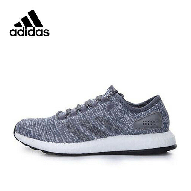 caf65241c Buy adidas Pureboost Grey White Knit Upper Men Running Shoes Trainers  Sneaker BA8900 10 online